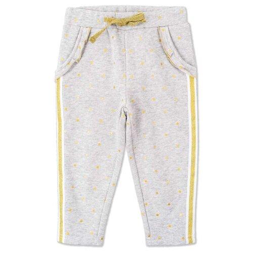 Купить Брюки playToday Light magic baby 398165 размер 74, светло-серый/золотистый, Брюки и шорты