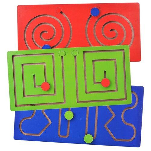 Лабиринт Мастер игрушек Полушарные доски красный/синий/зеленый