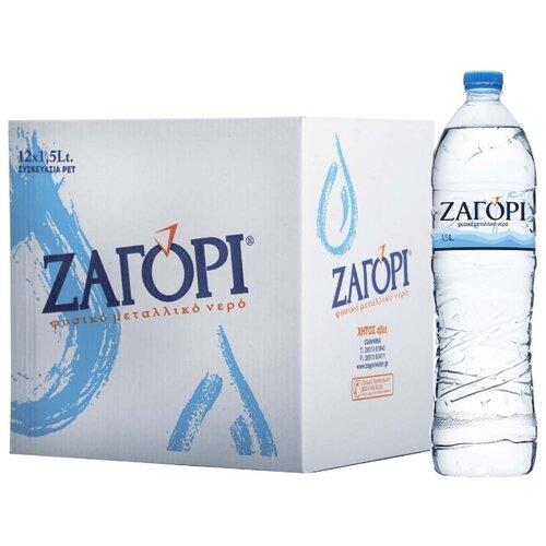 Минеральная вода Zagori негазированная, ПЭТ, 12 шт. по 1.5 л