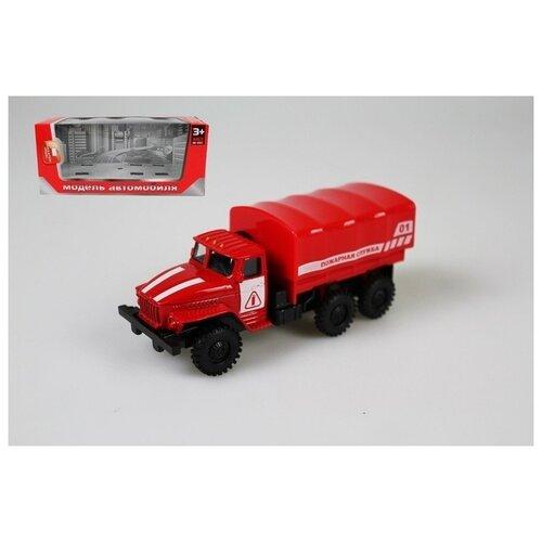 Инерционная металлическая машинка Пожарная служба, 15x18x5 см, арт. Y22679002