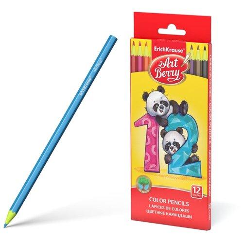 ErichKrause Цветные карандаши ArtBerry 12 цветов (46428) erichkrause пластиковые цветные карандаши шестигранные artberry 18 цветов 46429