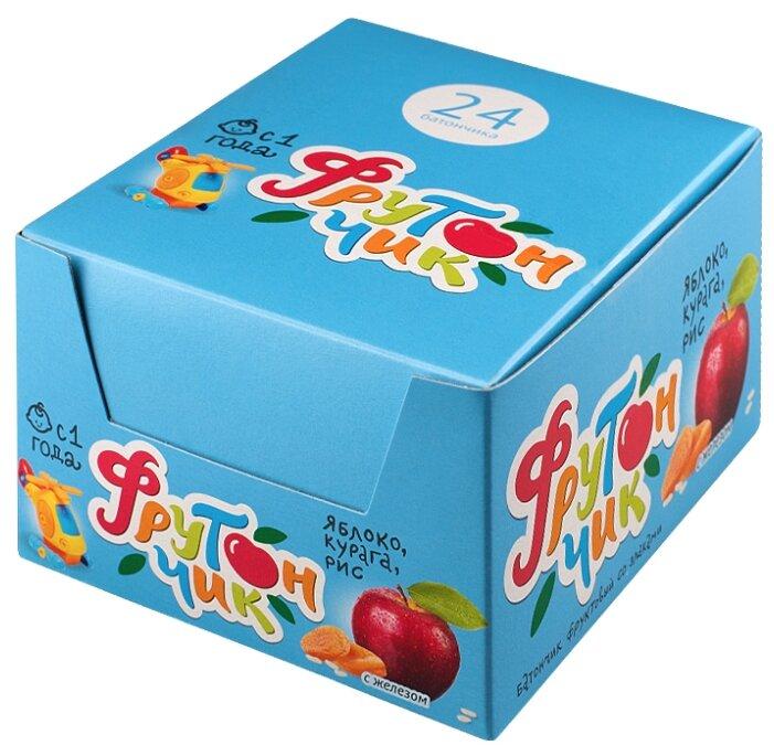 Батончик ЛЕОВИТ Фрутончик яблоко, курага, рис коробка (с 1-го года)