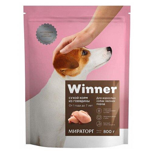 Сухой корм для собак Winner говядина 800г (для мелких пород) корм для собак winner для мелких пород говядина сух 800г