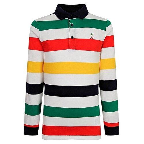 Купить Поло Mayoral размер 92, белый/красный/зеленый, Футболки и рубашки