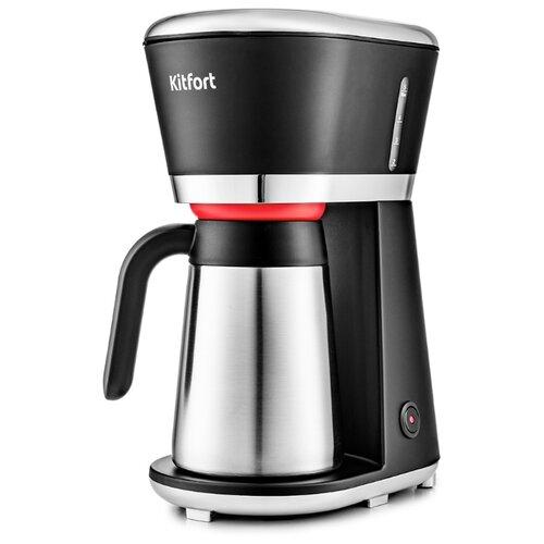 Кофеварка Kitfort КТ-733 серебристый/черный