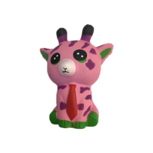 Игрушка-мялка 1 TOY Жирафик Т14686 розовый