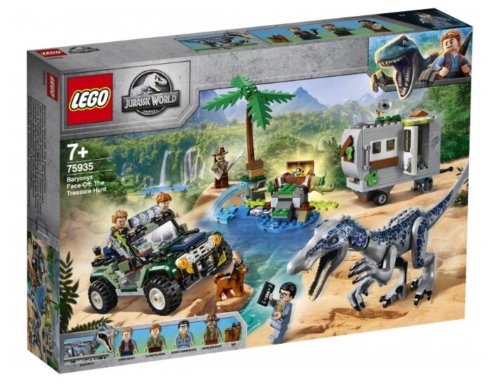 Конструктор LEGO Jurassic World 75935 Поединок с бариониксом: охота за сокровищами