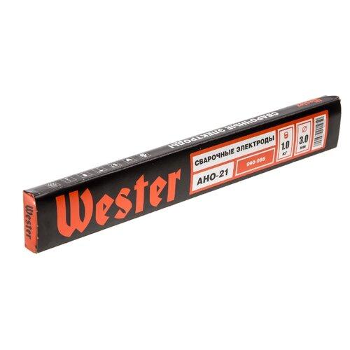 Электроды для ручной дуговой сварки Wester АНО-21 3мм 1кг электроды для ручной дуговой сварки wester уонии 13 55 3мм 1кг