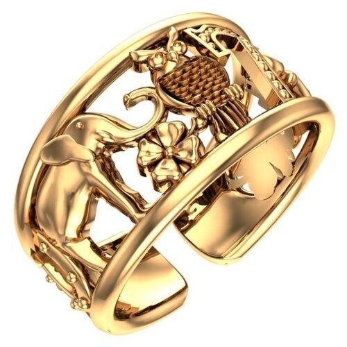 POKROVSKY Женское золотое кольцо без вставок Счастье 0101273-60240, размер 16.5