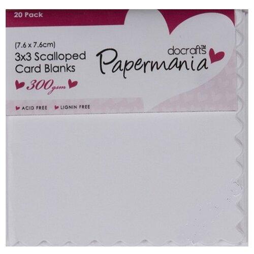 Набор заготовок для открыток с зубчатым краем, 20шт, белый DOCRAFTS, 7,6 х 7,6 см 20 шт PMA151004