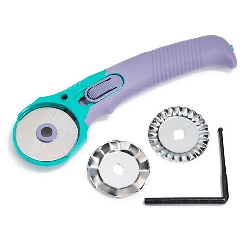 Купить Prym Раскройный нож Multi 611368 с 3 лезвиями 45 мм фиолетовый/зеленый, Инструменты и аксессуары