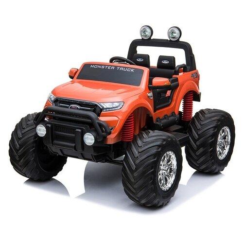 RiverToys Автомобиль Ford Ranger Monster Truck 4WD, оранжевый, Электромобили  - купить со скидкой