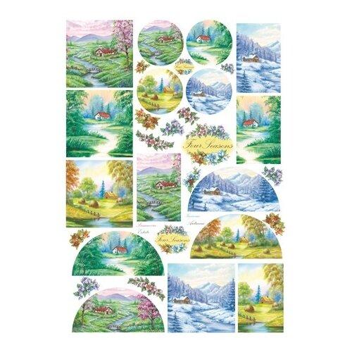 Купить Карта для декупажа Дом в лесу 50 х 70 см 1 лист, Stamperia, Карты, салфетки, бумага