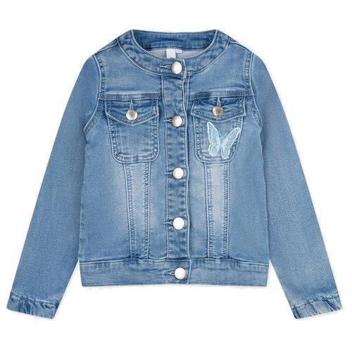 Купить Куртка playToday размер 128, голубой, Куртки и пуховики