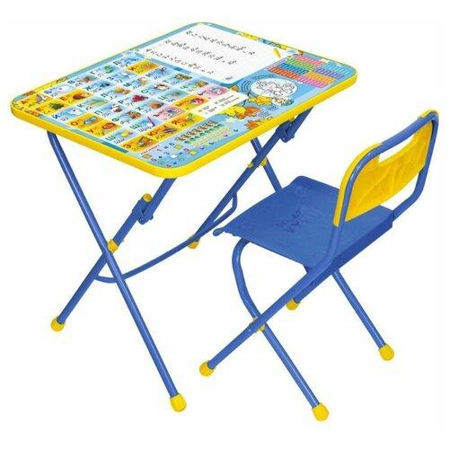Комплект детской складной мебели Ника КПУ1 Первоклашка, от 3 до 7 лет, пластмассовое сиденье