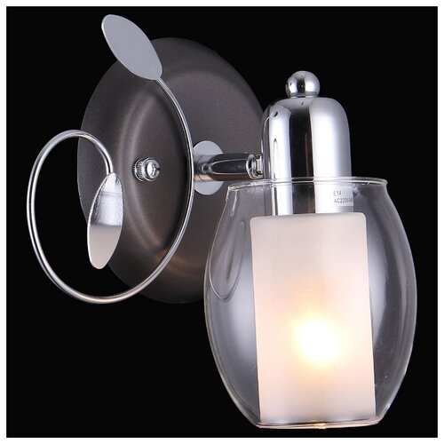 Настенный светильник Natali Kovaltseva 75037-1W Chrome, Gray, 40 Вт бра natali kovaltseva 11461 1w french