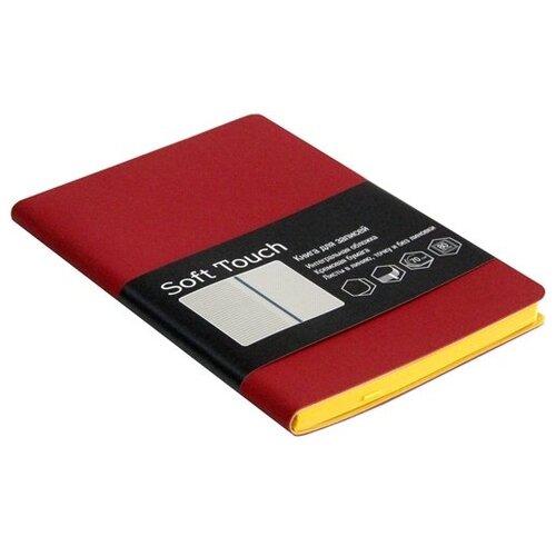Блокнот Listoff Soft Touch. Бордовый А6, 80 листов (КЗСК6802586) блокнот listoff soft touch синий а6 80 листов кзск6802585