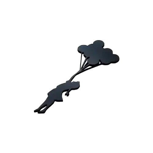 Наклейка на выключатель DS Studio Шарики - радость, объемная (черная)