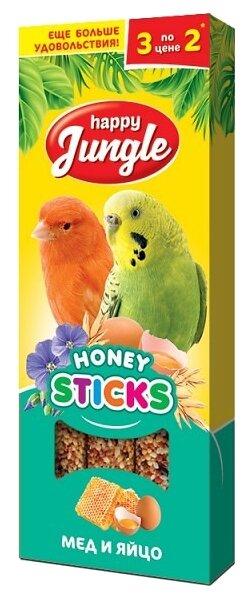 Лакомство для птиц Happy Jungle мед + яйцо