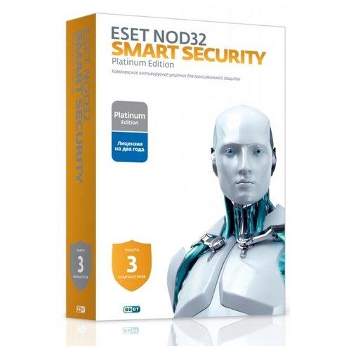 Антивирус ESET NOD32 Smart Security Family коробочная версия 3 шт. русский 24 коробочная версия