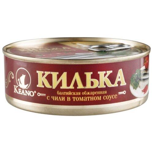 Пролив Килька балтийская обжаренная Keano с чили в томатном соусе, 240 г