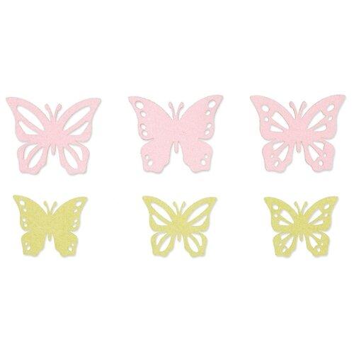 Купить Набор декоративных элементов Бабочки 5, 5 х 4, 5/7 х 6 см 6 шт фетр 3457632, Efco, Украшения и декоративные элементы