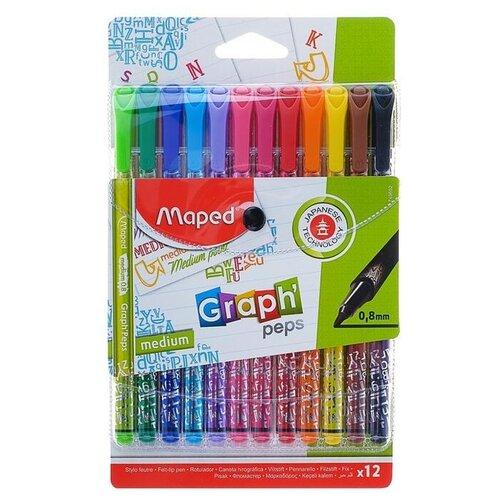 Купить Maped Набор капиллярных ручек Graph Peps, 0, 8 мм (749652), Ручки