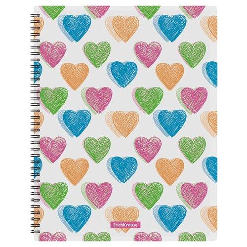 Купить ErichKrause Папка файловая с 20 карманами на спирали Neon hearts A4, пластик, 4 штуки белый, Файлы и папки
