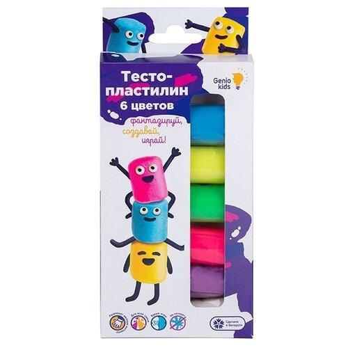 Купить Масса для лепки Genio Kids 6 цветов (TA1090), Пластилин и масса для лепки