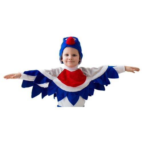 Купить Костюм Бока Снегирь, белый/синий/красный, размер 122-134, Карнавальные костюмы