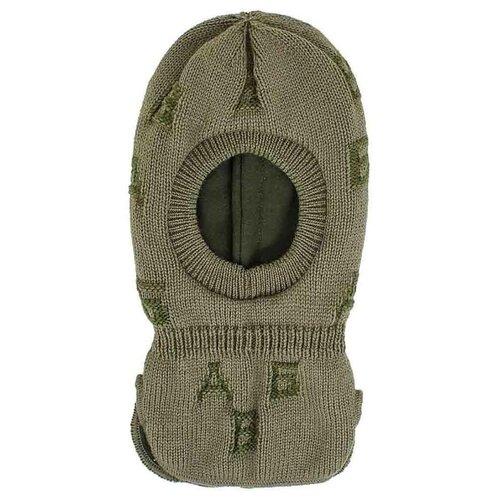 Купить Шапка-шлем Prikinder размер 46-48, хаки, Головные уборы