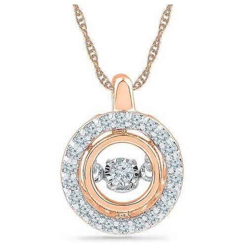 ЛУКАС Подвеска с 23 бриллиантами из красного золота P01-D-PF017640-R17
