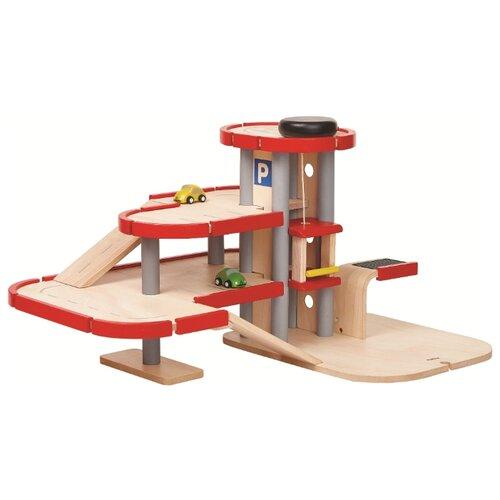 цена на PlanToys Parking Garage 6271 бежевый/красный