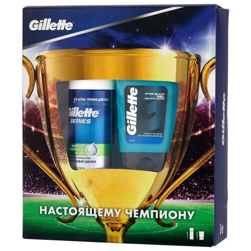 Набор Series Sensitive подарочный (пена для бритья 100 мл + гель после бритья 75 мл) Gillette