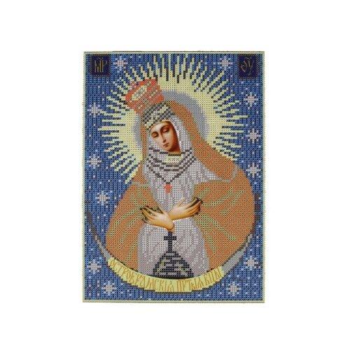 Купить Канва для вышивания с рисунком NOVA SLOBODA Богородица Остробрамская БИС-9019, многоцветный 21 х 30 см