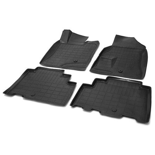 Комплект ковриков RIVAL 14201001 4 шт. черный