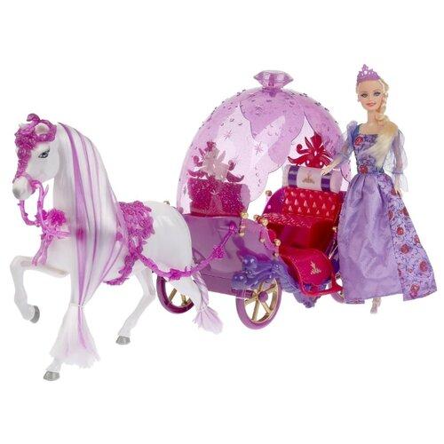 Кукла Shantou Gepai с каретой и лошадью, B1801820 кукла shantou gepai с коляской cs5832ha