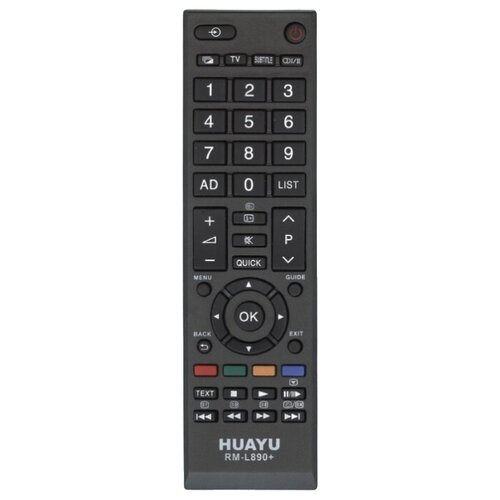 Пульт ДУ Huayu RM-L890+ для телевизоров Toshiba 32RL838G/40RL838G черный 2