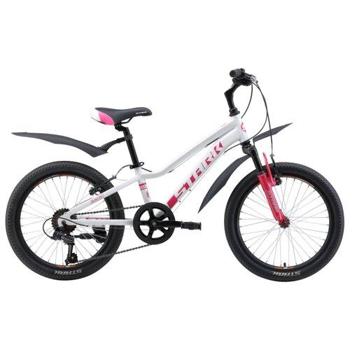 Подростковый горный (MTB) велосипед STARK Bliss 20.1 V (2019) белый/розовый (требует финальной сборки) велосипед stark vesta 26 3 v зелено желтый 16