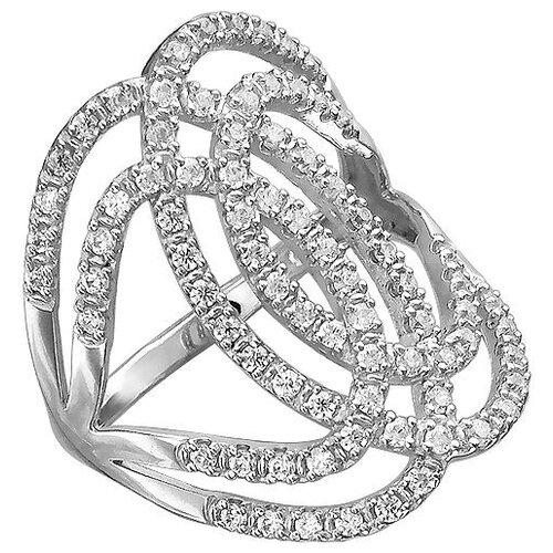Эстет Кольцо с 79 фианитами из серебра Н11К152547, размер 19.5 ЭСТЕТ
