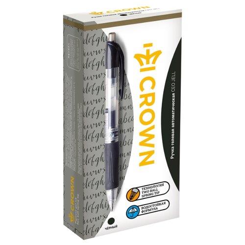 Купить CROWN Набор гелевых ручек CEO Jell, 0.7 мм 12 штук, черный цвет чернил, Ручки
