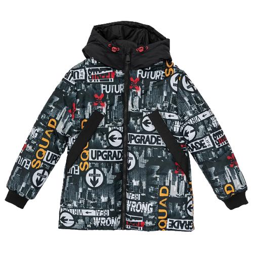 Купить Куртка Button Blue 220BBBJC41010813 размер 134, черный, Куртки и пуховики