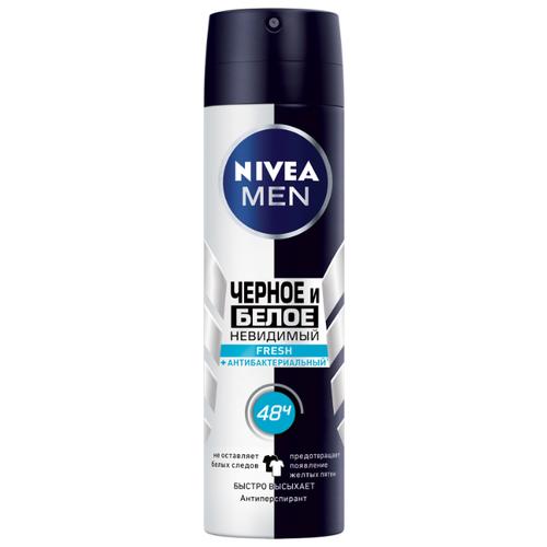 Купить Антиперспирант спрей Nivea Men Невидимый для черного и белого Fresh, 150 мл
