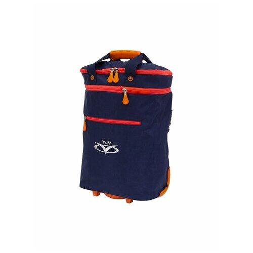 Дорожная сумка TSV на колесах 526,32 синий/апельсин