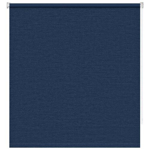 Рулонные шторы BLACKOUT / БЛЭКАУТ 70 см х 160 см Темно-синий Сатин DECOFEST