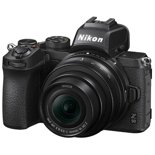 Фото - Фотоаппарат Nikon Z50 Kit черный Nikkor Z DX 16-50mm f/3.5-6.3 VR цифровой фотоаппарат nikon z6 ii kit 24 70 f 4 s без адаптера
