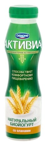 Питьевой йогурт Активиа злаки 2.2%, 290 г