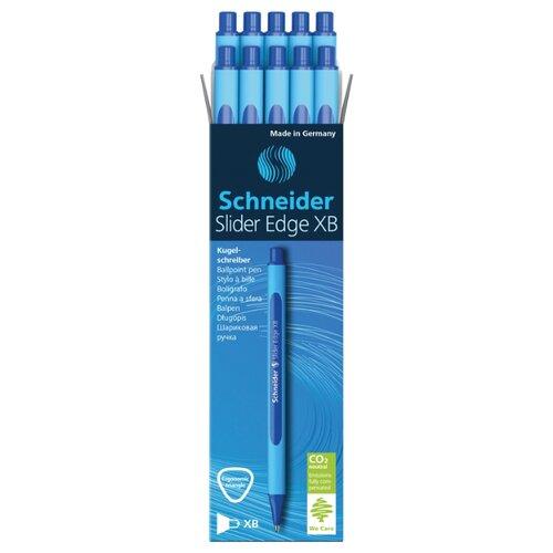 Купить Schneider Набор шариковых ручек Slider Edge XB, 0.7 мм 10 шт., синий цвет чернил, Ручки