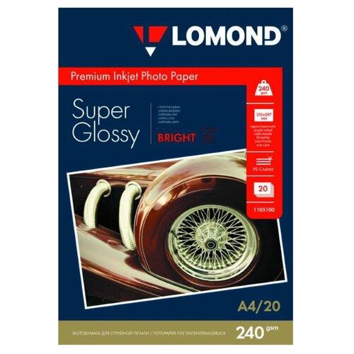 Бумага Lomond A4 Premium Photo Paper 1105100 240 г/м² 20 лист. белый 1 шт.