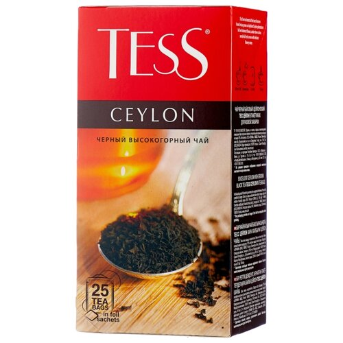 Чай черный Tess Ceylon в пакетиках , 25 шт. чай черный tess ceylon 100 г
